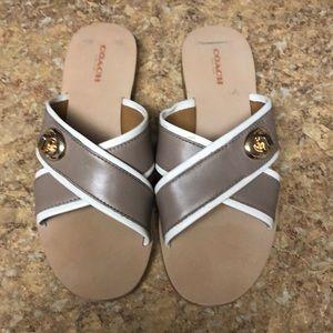 Coach slide sandals. Worn once!